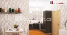 Prodej bytu 1+kk 51,3 m2 + terasa a předzahrádka 22,1 m2 + garážové stání - Praha 3 - Strašnice